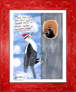 P1064 - Pileated Woodpeckers Framed Print / Small (8.5 X 11) Red Art