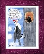 P1064 - Pileated Woodpeckers Framed Print / Small (8.5 X 11) Violet Art