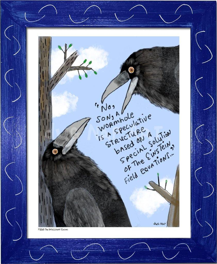 P1065 - The Intelligent Crow - dug Nap Art
