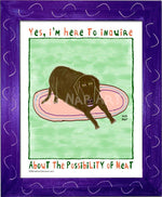 P1072 - Hungry Chocolate Lab 2 - dug Nap Art