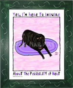 P1073 - Hungry Black Lab 2 - dug Nap Art