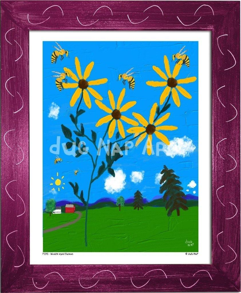 P1141 Black-Eyed Susans - dug Nap Art