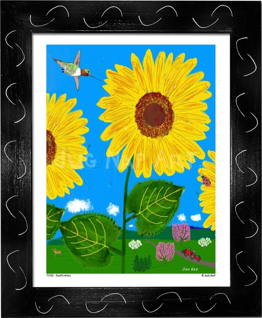 P1142 Sunflowers - dug Nap Art