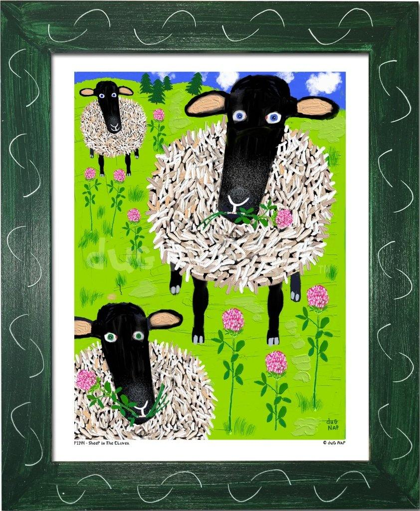 P1144 Sheep in the Clover - dug Nap Art