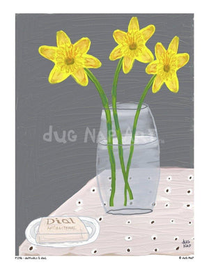P1146 Daffodils and Dial - dug Nap Art