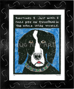 P133 - Dog Pee Framed Print / Small (8.5 X 11) Black Art