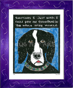 P133 - Dog Pee Framed Print / Small (8.5 X 11) Purple Art