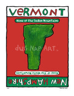 P214 - Vermont / New Hampshire Unframed Print Big (16 X 20) No Frame Art