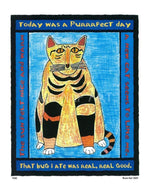 P320 - Purrfect Day Unframed Print / Small (8.5 X 11) No Frame Art