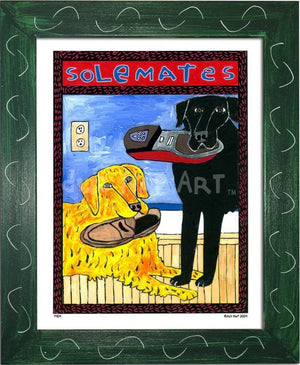 P404 - Solemates Small (8.5 X 11) / Green Art