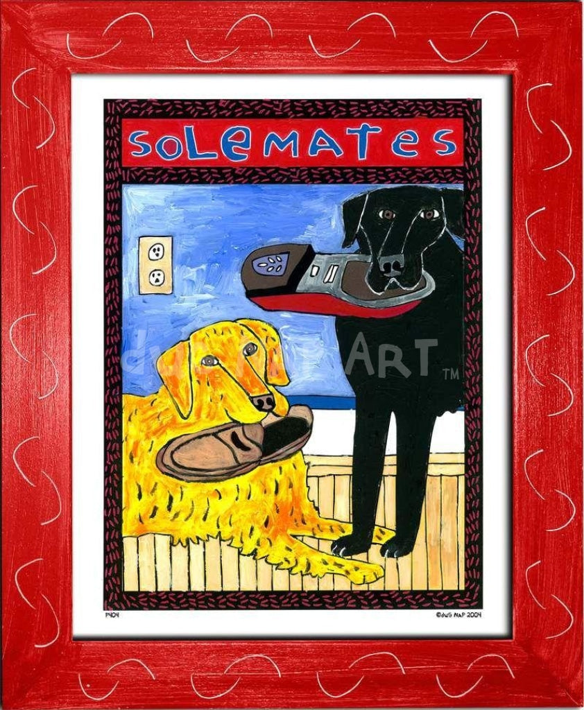 P404 - Solemates Small (8.5 X 11) / Red Art