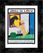 P417 - Dogs In Love Framed Print / Small (8.5 X 11) Black Art