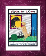 P417 - Dogs In Love Framed Print / Small (8.5 X 11) Violet Art