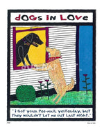 P417 - Dogs In Love Unframed Print / Small (8.5 X 11) No Frame Art