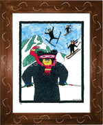 P422 - Bears Skiing - dug Nap Art