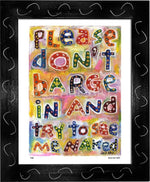 P430 - Dont Barge In Framed Print / Small (8.5 X 11) Black Art