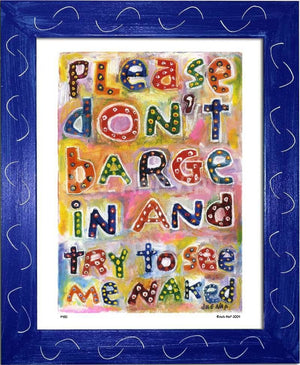 P430 - Dont Barge In Framed Print / Small (8.5 X 11) Blue Art