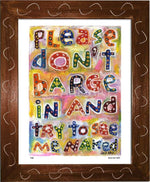 P430 - Dont Barge In Framed Print / Small (8.5 X 11) Brown Art