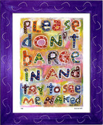 P430 - Dont Barge In Framed Print / Small (8.5 X 11) Purple Art