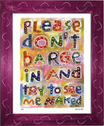 P430 - Dont Barge In Framed Print / Small (8.5 X 11) Violet Art