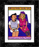 P434 - Men From Jersey Framed Print / Small (8.5 X 11) Black Art