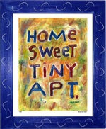 P439 - Home Sweet Tiny Apartment Framed Print / Small (8.5 X 11) Blue Art