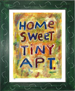P439 - Home Sweet Tiny Apartment Framed Print / Small (8.5 X 11) Green Art