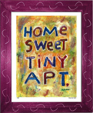 P439 - Home Sweet Tiny Apartment Framed Print / Small (8.5 X 11) Violet Art