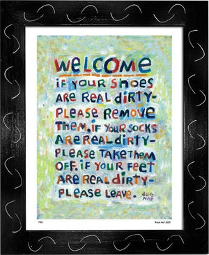 P451 - Welcome Framed Print / Small (8.5 X 11) Black Art