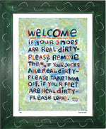 P451 - Welcome Framed Print / Small (8.5 X 11) Green Art