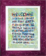 P451 - Welcome Framed Print / Small (8.5 X 11) Violet Art