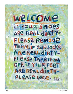 P451 - Welcome Unframed Print / Small (8.5 X 11) No Frame Art