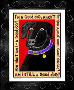 P517 - Good Black Lab - dug Nap Art