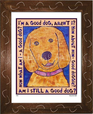 P519 - Good Dog (Golden Retriever) Framed Print / Small (8.5 X 11) Brown Art