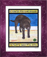P520 - Lab Watching Ball (Chocolate) Framed Print / Small (8.5 X 11) Violet Art