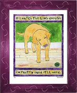 P521 - Lab Watching Ball (Yellow) Framed Print / Small (8.5 X 11) Violet Art