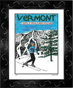 P603 - Vermont 9 Months Of Winter Framed Print / Small (8.5 X 11) Black Art