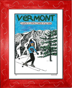 P603 - Vermont 9 Months Of Winter Framed Print / Small (8.5 X 11) Red Art
