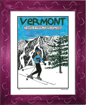 P603 - Vermont 9 Months Of Winter Framed Print / Small (8.5 X 11) Violet Art