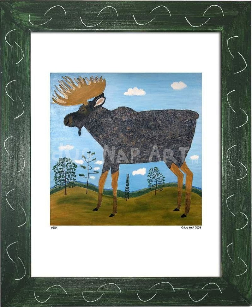 P604 - Moose - dug Nap Art