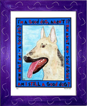 P622 - Good Shepherd Framed Print / Small (8.5 X 11) Purple Art