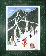 P636 - Snowboarders On A Mountain - dug Nap Art