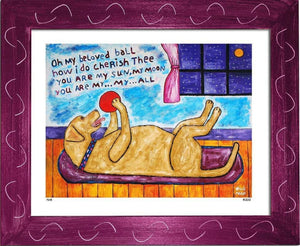 P645 - My Beloved Ball (Yellow Lab) - dug Nap Art