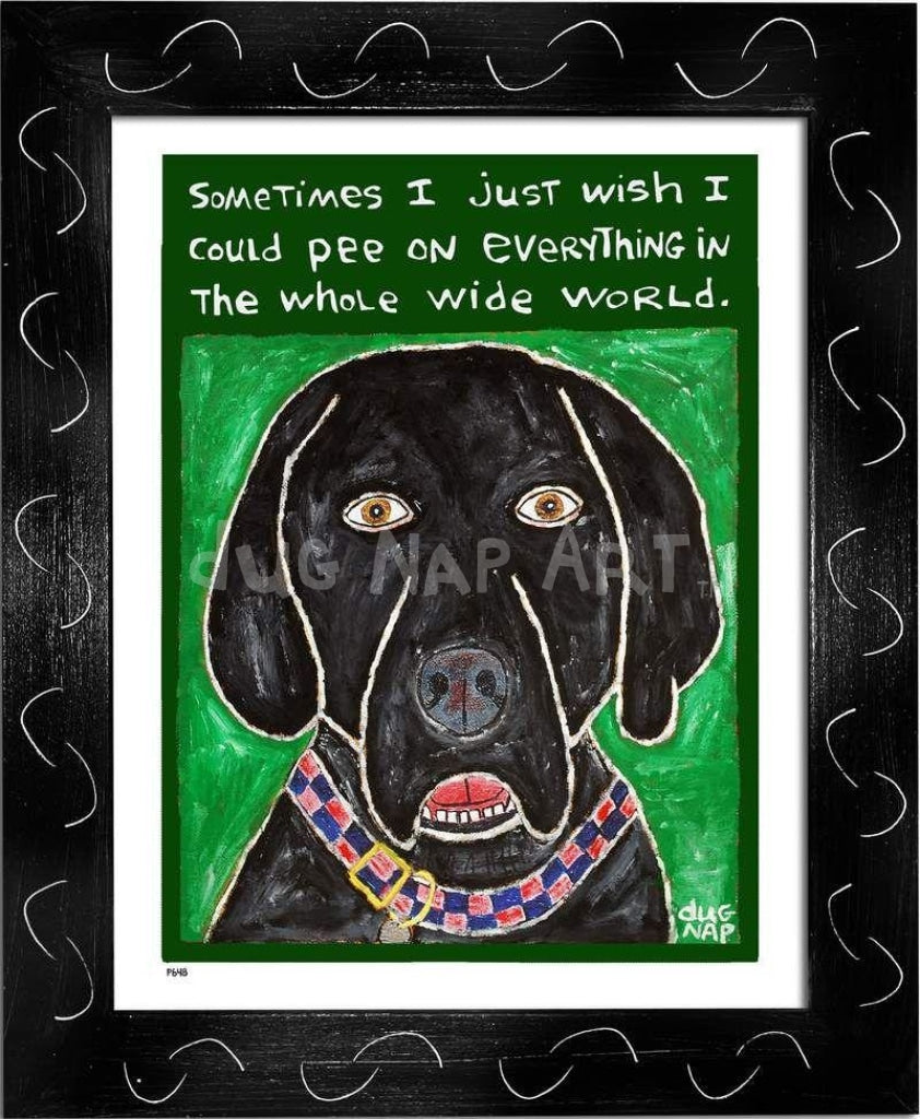 P648 - Dog Pee (Black Lab) - dug Nap Art