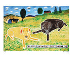 P650 - Just Throw It (Chocolate Lab) Unframed Print / Small (8.5 X 11) No Frame Art