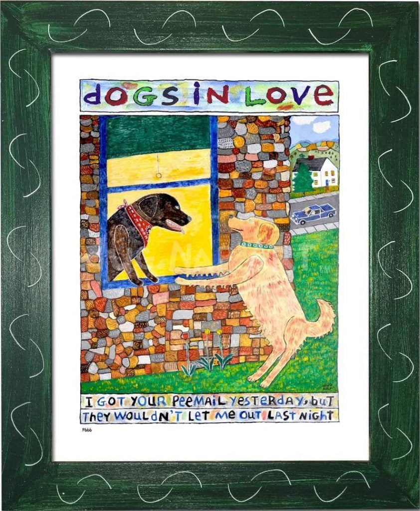P666 - Dogs in Love 2 - dug Nap Art