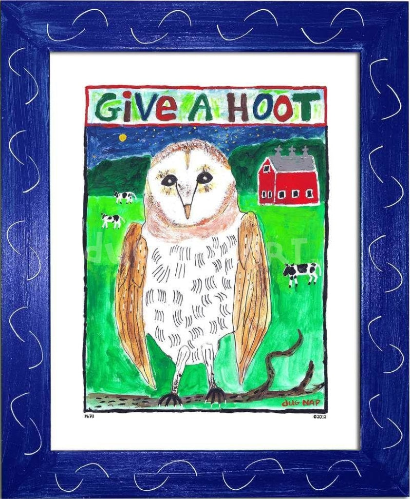 P673 - Give a Hoot - dug Nap Art