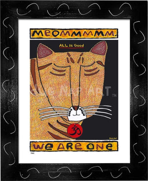 P682 - Yoga Cat- Meommm Framed Print / Small (8.5 X 11) Black Art