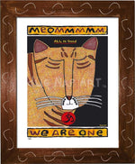 P682 - Yoga Cat- Meommm Framed Print / Small (8.5 X 11) Brown Art
