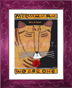 P682 - Yoga Cat- Meommm Framed Print / Small (8.5 X 11) Violet Art